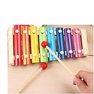 Đàn mộc cầm Xylophone 8 âm phiên bản mini cho bé - Chất liệu gỗ an toàn thân thiện - Kích thước 25cm thumbnail