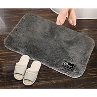 Thảm lau chân lông cư u mềm mi n siêu thấm nước (chùi chân, phòng khách, phòng tắm) ki ch thươ c 50 x80 cm thumbnail