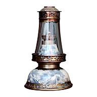Đèn thờ dầu men rạn Bát Úp cổ gốm sứ Bát Tràng (đèn dầu, đèn thờ cúng) thumbnail