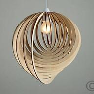 Đèn gỗ thả trần CAO CẤP hiện đại sang trọng chất liệu gỗ trang trí cho phòng khách nhà căn hộ decor nhà quán cafe thumbnail