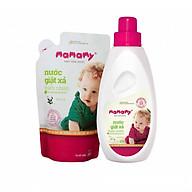 Combo 1 chai nước giặt xả thiên nhiên Mamamy 800ml (Bellis) + 1 túi bổ sung 800ml thumbnail