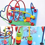 Đồ chơi xe gỗ, game xâu chuỗi luồn hạt gỗ, đồ chơi gỗ xâu chuỗi hạt rèn kỹ năng khéo léo cho bé giúp trẻ kích thích giác quan một cách toàn diện Tặng Kèm Móc Khóa 4Tech. thumbnail