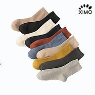 Combo 5 đôi tất nam XIMO cổ cao phong cách thời thượng chất liệu cotton thoáng khí XTN21 thumbnail