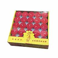 Nến trang trí Tealight 100 viên (Hộp 100 viên) màu đỏ thumbnail