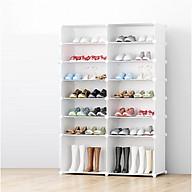 tủ giày lắp ghép đặc biệt 14 ô có 2 ô lớn đựng boot thumbnail