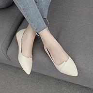 Giày bệt nữ da mềm chất đẹp đủ 2 màu đen kem thumbnail