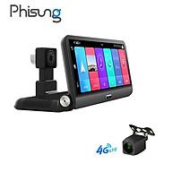 Camera hành trình đặt taplo ô tô nhãn hiệu Phisung P03 tích hợp cam lùi, 4G, Wifi, màn hình cảm ứng 8 inch - Hàng Nhập Khẩu thumbnail