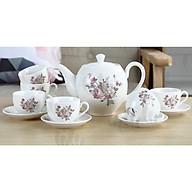 Bộ cốc chén phà trà sứ camelia kèm 7 đĩa lót tách trắng họa tiết hoa hồng ( Giao ngẫu nhiên ) - ANTH463 thumbnail