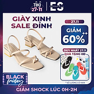 Gia y sandal nữ thời trang Erosska xỏ ngón dây mãnh kiểu dáng hiện đa i dễ phối đồ cao 5cm EB024 thumbnail
