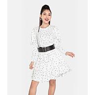 HNOSS Đầm cổ tròn phối ren tay 80% Polyester 20% Coton TDS12012011NM thumbnail