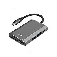 Hub chuyển đổi Remax RU-U30 6 in 1 cổng Type C ra USB 3.0 + HDMI + Đầu đọc thẻ nhớ - Hàng nhập khẩu thumbnail