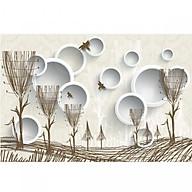 Decal hoa trang trí tường 3DH875 thumbnail