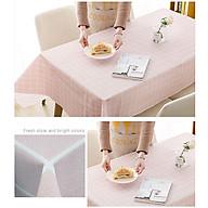 Khăn trải bàn vintage kẻ caro nhựa PVC không thấm nước khăn decor phông nền chụp ảnh trang trí phòng khách phủ bàn trà thumbnail