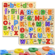 Combo bảng song ngữ chữ cái tiếng anh in thường và in hoa thumbnail