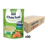 Thùng cháo tươi Baby Sài Gòn Food Tôm, Rau ngót Nhật & Cà rốt 240g x 30 gói thumbnail