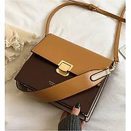 Túi xách tay đeo chéo nữ thời trang công sở phối 2 màu T66 KT 24x21x10 cm dây đeo chéo da phụ kiện thời trang - T66-1 thumbnail