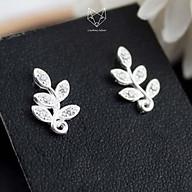 Khuyên Tai Bạc S99 CaoBac Silver Hình Chiếc Lá Đính Đá Phong Cách Hàn Quốc Dành Cho Bạn Nữ Đeo Khi Dự Tiệc Đám Cưới thumbnail