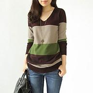Áo len nữ len phối màu dáng dài ArcticHunter, thời trang trẻ, thương hiệu chính hãng thumbnail