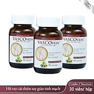 Combo 3 Thực phẩm chức năng Dân Khang Pharma Viên Uống Làm Giảm Và Phòng Ngừa Suy Giãn Tĩnh Mạch Vascovein (30 viên hộp) thumbnail