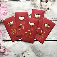 Combo 5 Bao Lì Xì đỏ hình thỏi đem tài lộc cho năm mới --MS359 thumbnail