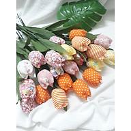 Hoa vải handmade bó 10 bông thumbnail