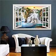 Tranh dán tường cửa sổ 3D trang trí phòng khách, phòng ngủ, phòng ăn SƠN THỦY HỮU TÌNH đã có sẵn keo dán 1728L11 thumbnail