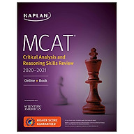 MCAT Critical Analysis And Reasoning Skills Review 2020-2021 Online + Book (Kaplan Test Prep) thumbnail