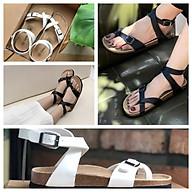 Dép sandal quai hậu nữ xỏ ngón đế trấu VNXK màu đen SATA20 HÀNG FULLBOX . thumbnail
