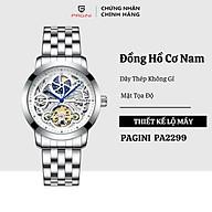 Đồng hồ cơ nam PAGINI PA01 dây thép không gỉ - Thiết kế lộ máy cực phong cách thumbnail