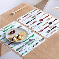 Bộ tấm lót bàn ăn hình muỗng nĩa xinh xắn ( 4 cái) thumbnail