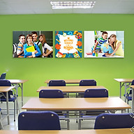 Bộ 3 tranh treo tường lớp học vui nhộn W2197 thumbnail