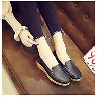 Giày Lười Nữ Đế Độn Da Mềm Cao Cấp - GN05 thumbnail