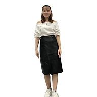 Chân Váy Bút Chì Da Pu Lưng Cao Thời Trang Hàn Quốc V09 55-62 KG JIAMI thumbnail