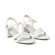Juno - Giày sandal gót vuông quai mặt bất đối xứng SD05044 thumbnail