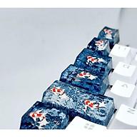 Set keycap cá koi tone đen xám trang trí bàn phím cơ. thumbnail