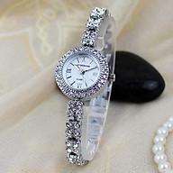 Đồng hồ nữ Kingnuos cao cấp mặt đính đá dây thép không gỉ thời trang Ý thumbnail