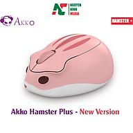 Chuột máy tính không dây Akko Hamster MOMO Plus (Pink) New Version - Hàng chính hãng thumbnail