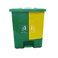 Thùng đựng rác 2 ngăn tiện lợi tặng 1 sọt tròn nhỏ đa năng thumbnail