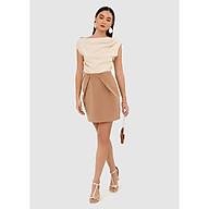 Váy mini nhấn xếp nút trước - MARC FASHION thumbnail