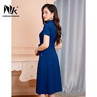 Váy Thiết Kế Công Sở NK Fashion Thiết Kế Đầm A Cổ Đức, Vải Hàn Cao Cấp Lên Form Chuẩn, Không Bay Màu NKDV2104034 thumbnail