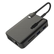 Hub chuyển đổi USB Type-C 9in1-1 - HDMI x 2, VGA x 1, LAN 1000Mbps x 1, PD thumbnail