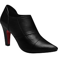 Giày Boot Nữ Cổ Thấp Chỉ Nối Rosata RO27 - Đen thumbnail