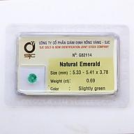 Viên đá emeral ngọc lục bảo thiên nhiên thumbnail