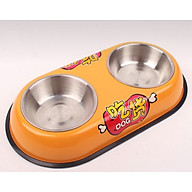 Bát Tô đôi inox ăn uống cho chó mèo (giao màu ngẫu nhiên) thumbnail