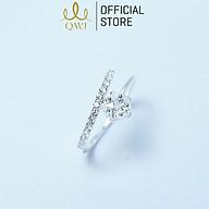 Nhẫn bạc QMJ Ngôi sao băng nạm đá tấm trẻ trung - Q078 thumbnail