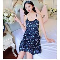 Đầm ngủ, đầm mặc nhà 2 dây nữ họa tiết dễ thương VN39 thumbnail