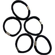 Set 5 dây buộc tóc đen thumbnail