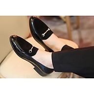 Giày Lười Nam Da Bóng Giá Rẻ - Mu Giày Da Lộn, Đế Cao 3cm - Mã L190 Màu Đen - Hàng VN thumbnail