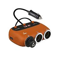 Bộ chia tẩu sạc trên ô tô, châm thuốc 558A trên ô tô ( Tặng 01 miếng thép đa năng 11in1 ) thumbnail