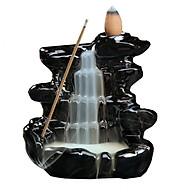 Thác khói trầm hương để bàn tặng 3 nụ trầm thác suối non nước màu đen thumbnail